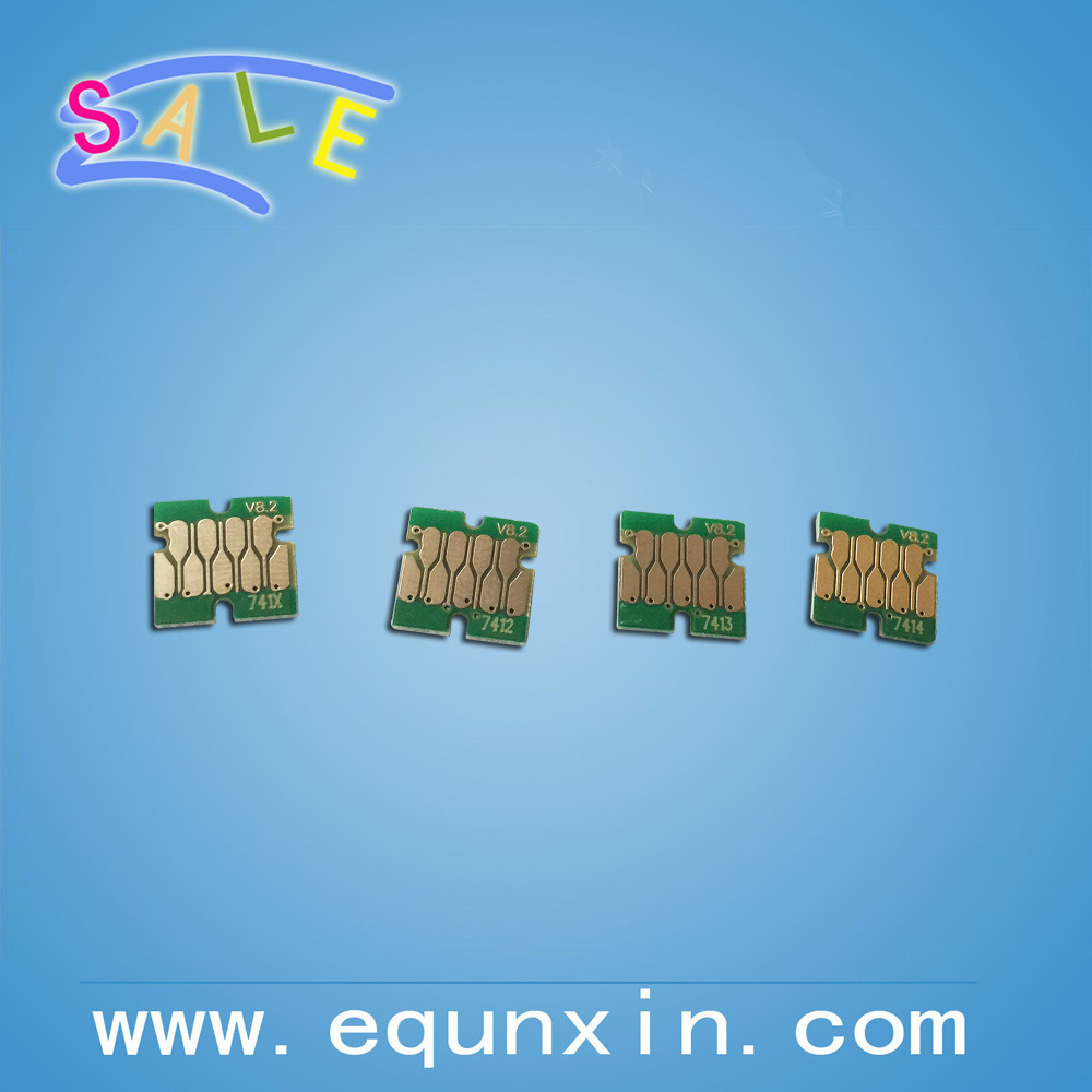 One time chip for Epson Surecolor F7200 F6200 F9200 printer cartridge chip T741X T7412 T7413 T7414